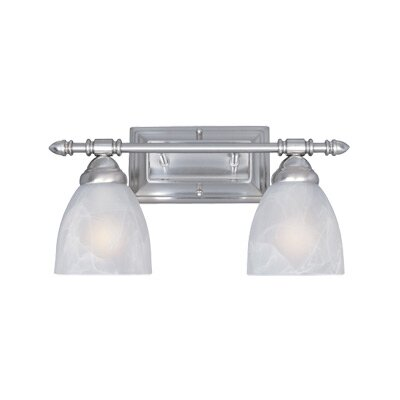 Apollo 2-Light Vanity Light Finish: Satin Platinum