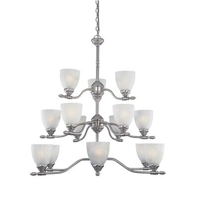 Alexandria 15-Light Shaded Chandelier