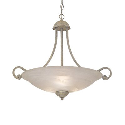 Continental Inverted 3 Lights Bowl Pendant