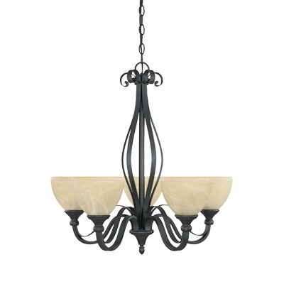 Del Amo 5-Light Shaded Chandelier