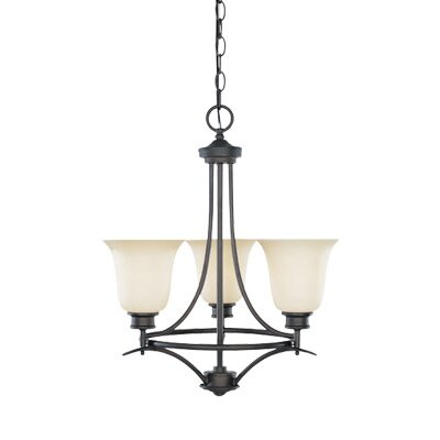 Montego 3-Light Shaded Chandelier