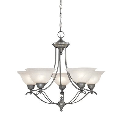Palladium 5-Light Shaded Chandelier