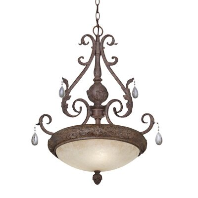 San Mateo 3 Light Bowl Pendant