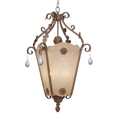 San Mateo Foyer Pendant in Ancient Oak - Energy Star Size: 36