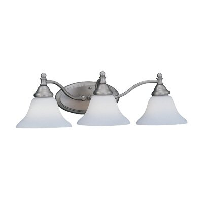 Savon 3-Light Vanity Light Finish / Shade Color: Pewter / Satin Opal