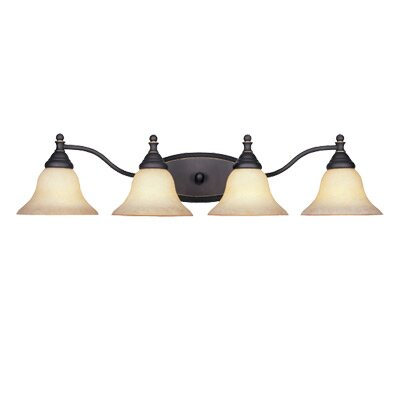 Savon 4-Light Vanity Light Finish: Aged Bronze Patina