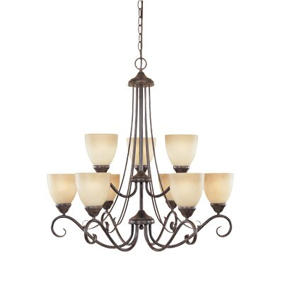 Stratton 9-Light Shaded Chandelier