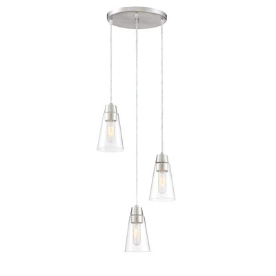 Echo 3-Light Cascade Pendant