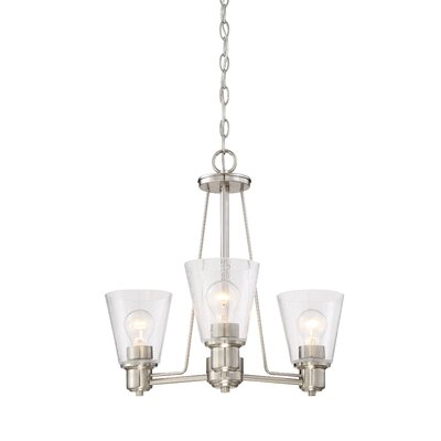 Selinsgrove 3-Light Shaded Chandelier Finish: Satin Platinum