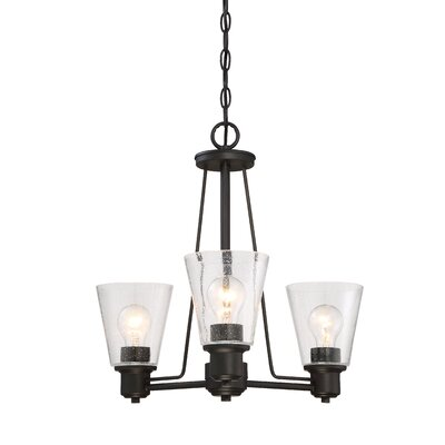 Printers Row 3-Light Shaded Chandelier Finish: Oil Rubbed Bronze