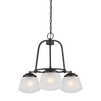 Mason 3-Light Shaded Chandelier