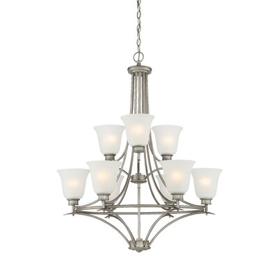 Amee 9-Light Shaded Chandelier