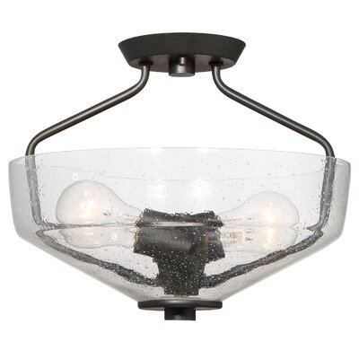 Printers Row 2-Light Semi-Flush Mount