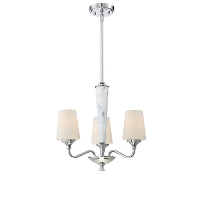 Lusso 3-Light Shaded Chandelier