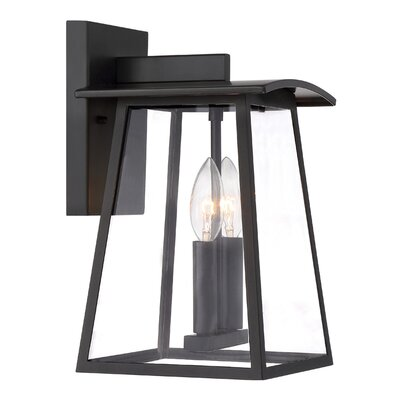 Calderwood 1-Light Outdoor Wall Lantern Size: 12.25 H x 7.25 W x 8 D