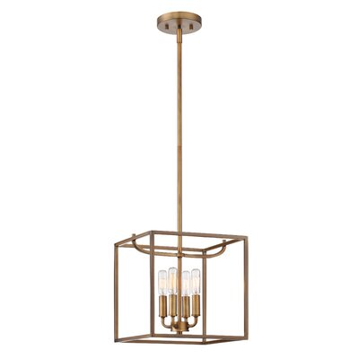 Uptown 4-Light Foyer Pendant Finish: Oil Rubbed Bronze