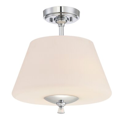 Lusso 2-Light Semi-Flush Mount