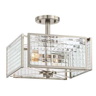 Pivot 2-Light Semi-Flush Mount
