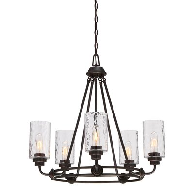 Gramercy Park 5-Light Candle-Style Chandelier Finish: Old English Bronze