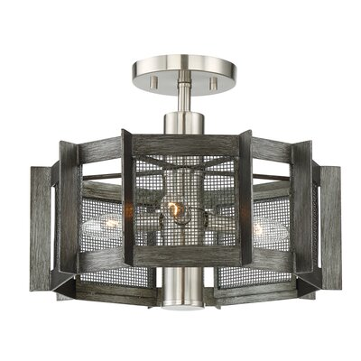Baxter 3-Light Semi Flush Mount