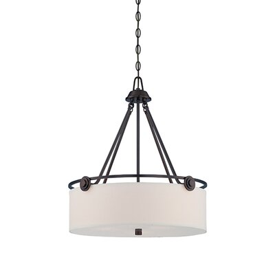 Westhope 3-Light Drum Pendant Finish: Old English Bronze