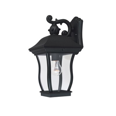 Chelsea 3-Light Outdoor Wall Lantern Finish: Black, Size: 13 H x 8.25 W