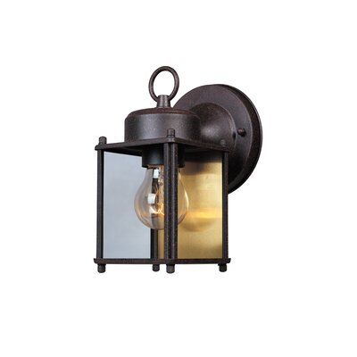 Budget Cast Aluminum 1-Light Outdoor Wall Lantern Finish: Rust Patina