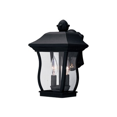 Chelsea 3-Light Outdoor Wall Lantern Finish: Black, Size: 14.5 H x 7.5 W