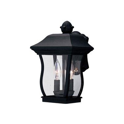 Chelsea 3-Light Outdoor Wall Lantern Finish: Black, Size: 14.5 H x 7.5 W
