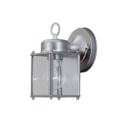 Budget Cast Aluminum 1-Light Outdoor Wall Lantern Finish: Pewter