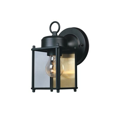 Budget Cast Aluminum 1-Light Outdoor Wall Lantern