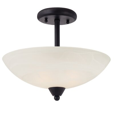 Jefferson 2-Light Semi-Flush Mount Finish: Oil Rubbed Bronze
