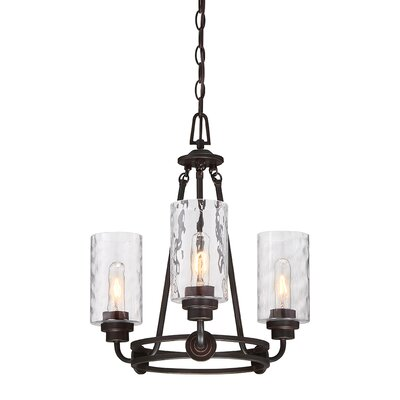 Westhope 3-Light Shaded Chandelier Finish: Old English Bronze
