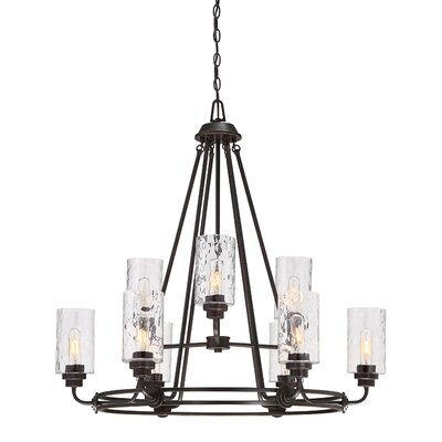 Calumet 9-Light Candle-Style Chandelier Finish: Old English Bronze