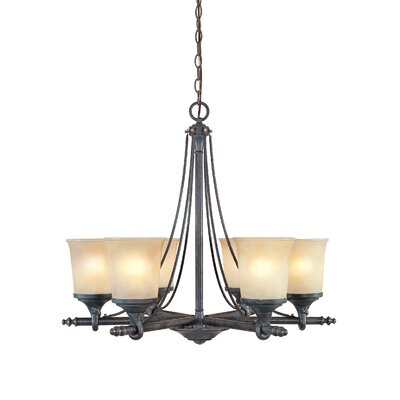 Corrine 6-Light Shaded Chandelier