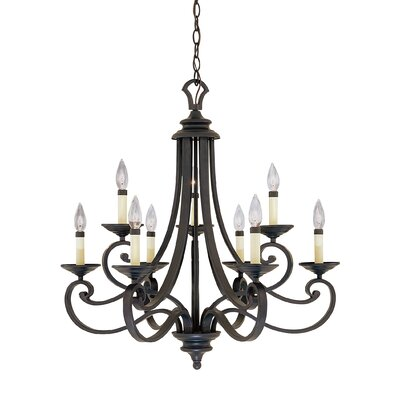 Earline 9-Light Candle-Style Chandelier