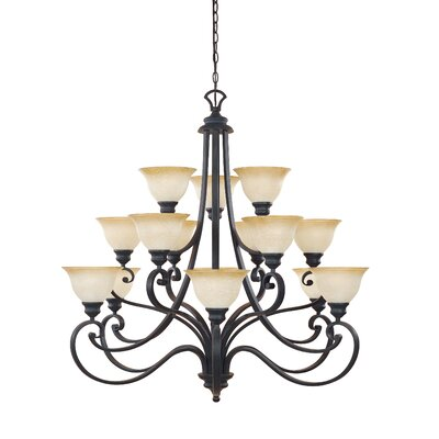 Earline 15-Light Shaded Chandelier