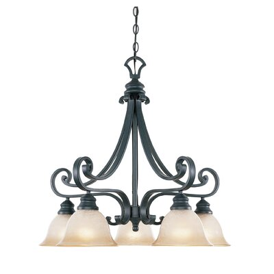 Earline 5-Light Shaded Chandelier