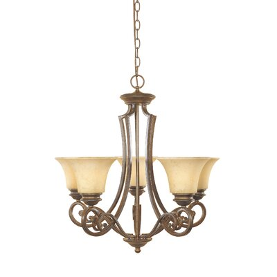 Mendocino 5-Light Shaded Chandelier