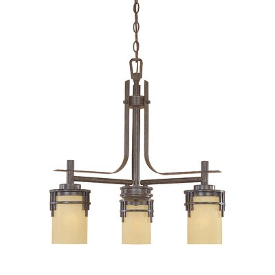 Mission Ridge 3-Light Shaded Chandelier