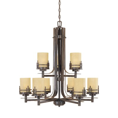 Mission Ridge 9-Light Shaded Chandelier