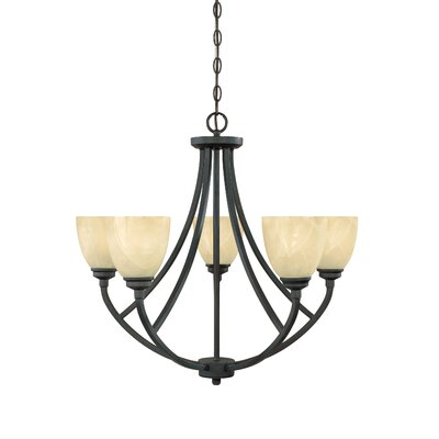 Stan 5-Light Shaded Chandelier Finish: Burnished Bronze