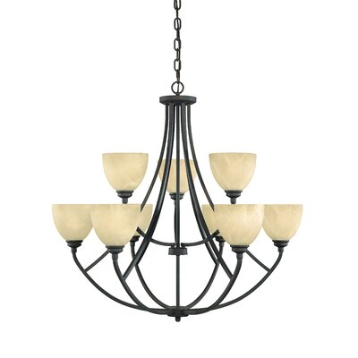 Tackwood 9-Light Shaded Chandelier Finish: Burnished Bronze
