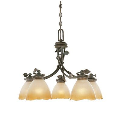 Timberline 5-Light Shaded Chandelier