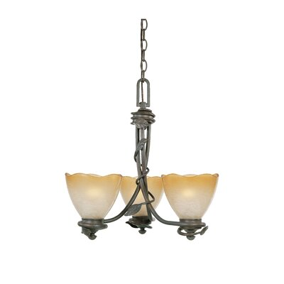 Timberline 3-Light Shaded Chandelier