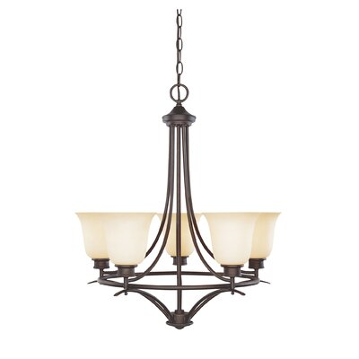 Amee Traditional 5-Light Shaded Chandelier