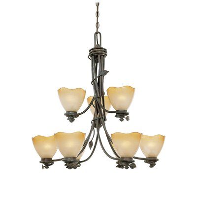 Timberline 9-Light Shaded Chandelier