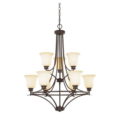 Amee Traditional 9-Light Shaded Chandelier