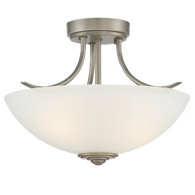 Amee Contemporary 2-Light Semi Flush Mount