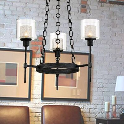 Cazadero 3-Light Candle-Style Chandelier